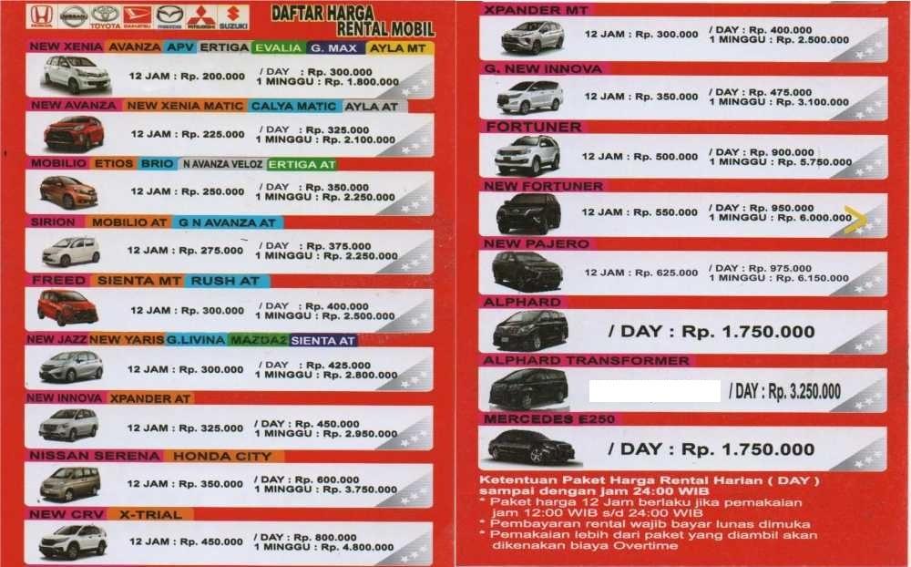 Harga Rental Mobil Lepas Kunci Rental Mobil Bandung Lepas Kunci Buka 24 Jam Mulai Dari 200k